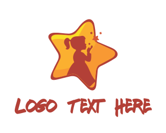 Care - Girl Star logo design