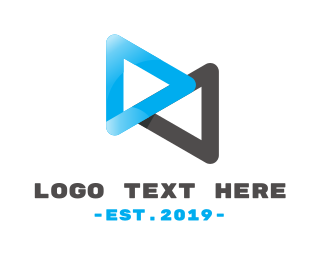 Interactive - Loop Media logo design