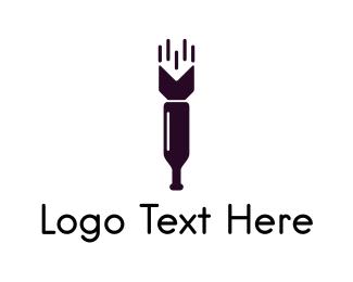 Bomb - Wine Missile logo design