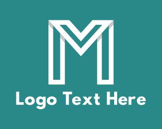 Modern White Letter M Logo