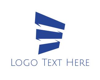 Stripes - Blue Blinds logo design