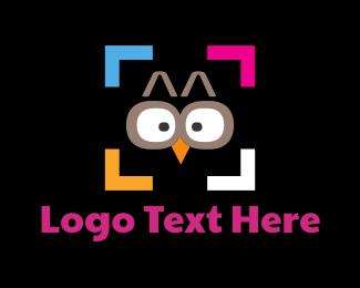 Frame - Owl Photography logo design