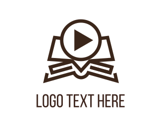 Player - Video Book logo design