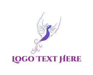 Phoenix - Purple Bird logo design