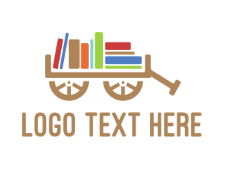 Ebook - Book Cart logo design