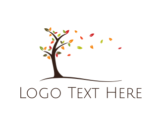 Branch - Autumn Tree logo design