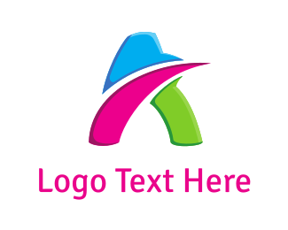 Motion - Colorful Letter A  logo design
