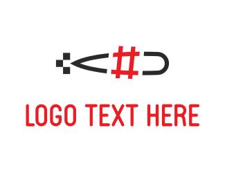 Web Design - Submarine Hashtag logo design