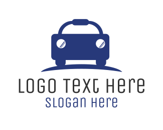 Car Rental - Blue Car Dealership logo design