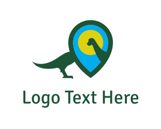 Map - Dinosaur Locator logo design