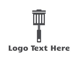 Trash - Garbage Spatula logo design