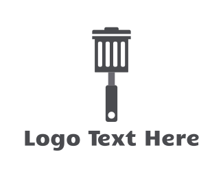 Rubbish - Garbage Spatula logo design