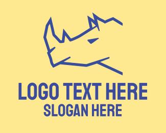 Agency - Blue Rhino logo design