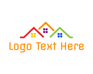 Roof - Colorful Roof Houses logo design