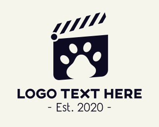 Movie Theater - Pet Clip logo design