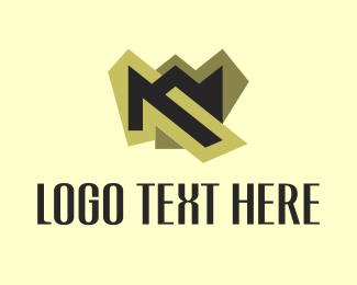 Expensive - M Gold logo design
