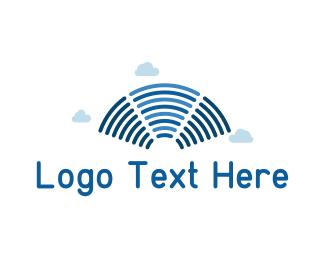 Stream - Blue Signal logo design