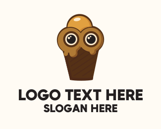 Ice Cream - Ice Cream Character logo design
