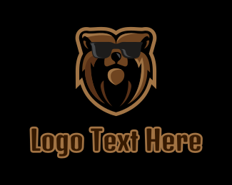 Shades - Hipster Grizzly  logo design