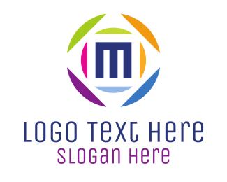 Multicolor - Media M Ball logo design