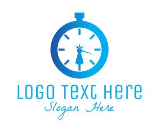 Stopwatch - Royal Clock logo design