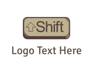 Keyboard - Shift Key logo design