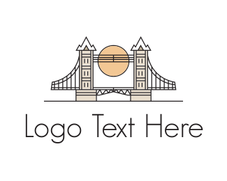 Destination - London Bridge logo design