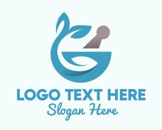 Mortar - Herbal Pharmacy logo design