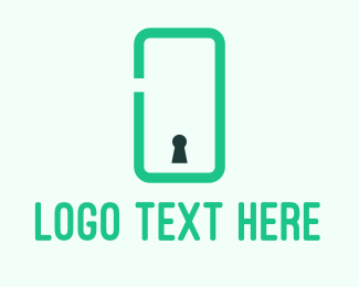 Keyhole - Phone Security logo design
