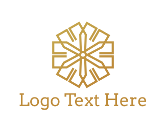 Asterisk - Golden Star logo design