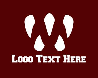 Canine - White Fangs logo design