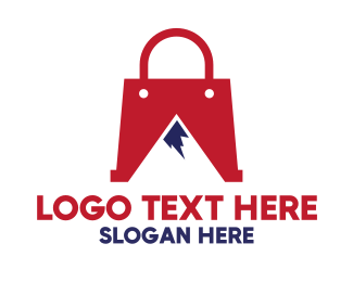 Everest - Red Bag Mountain logo design