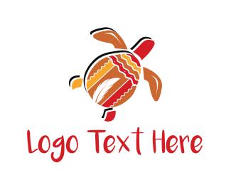 Native - Tribal Turtle logo design