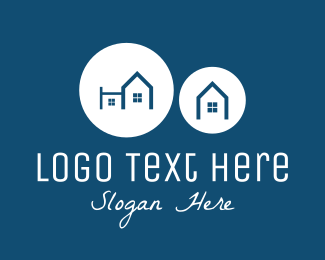Townhouses - Blue Neighborhood logo design