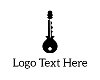 Performance - Guitar Key logo design