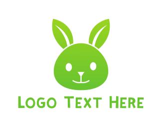 Hare - Eco Rabbit logo design