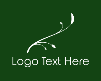 White - White Twig logo design