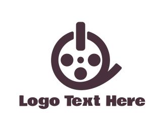 Off - Film Reel Button logo design