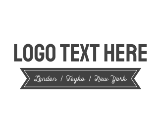 White - Black & White logo design