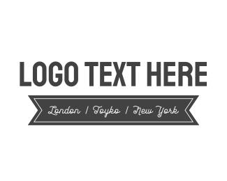 Text - Black & White logo design