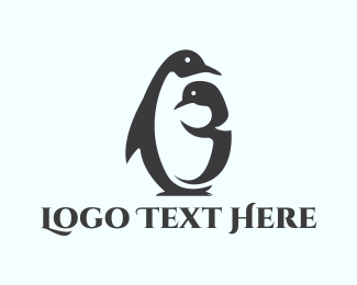 Mom - Penguin Family logo design