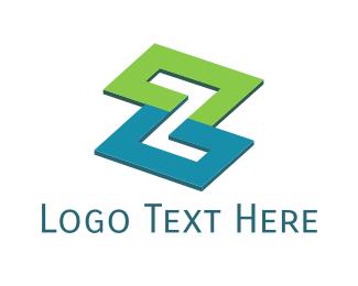 Letter Z - Modern Zigzag  logo design