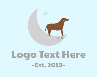 Dream - Moon Dog  logo design
