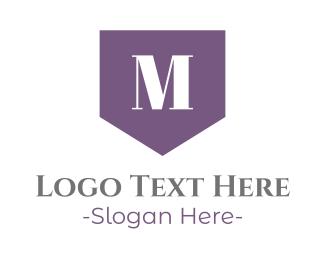 Drapery - Elegant M Flag logo design