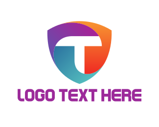 Letter T - T Shield logo design