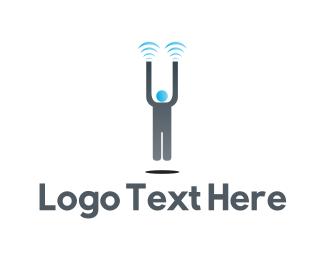 Man - Magnet Man logo design