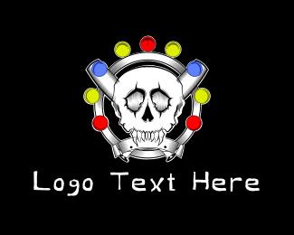 Zombie - Baseball Skull logo design