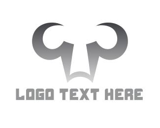 Chrome - Chrome Bull Outline logo design