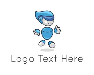 Theme Park - Water Robot logo design
