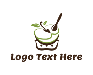 Spoon - Apple Bowl logo design